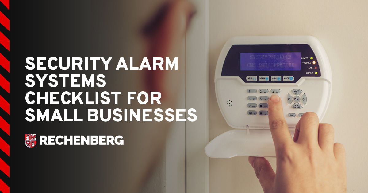 Security Alarm Systems Checklist for Small Businesses