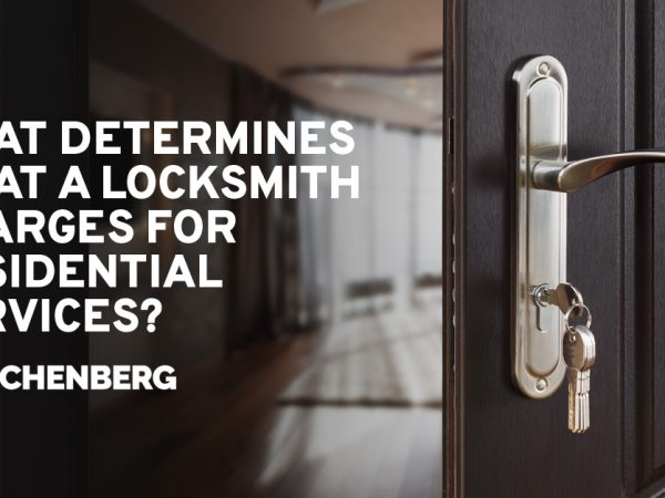 What Determines What A Locksmith Charges For Residential Services