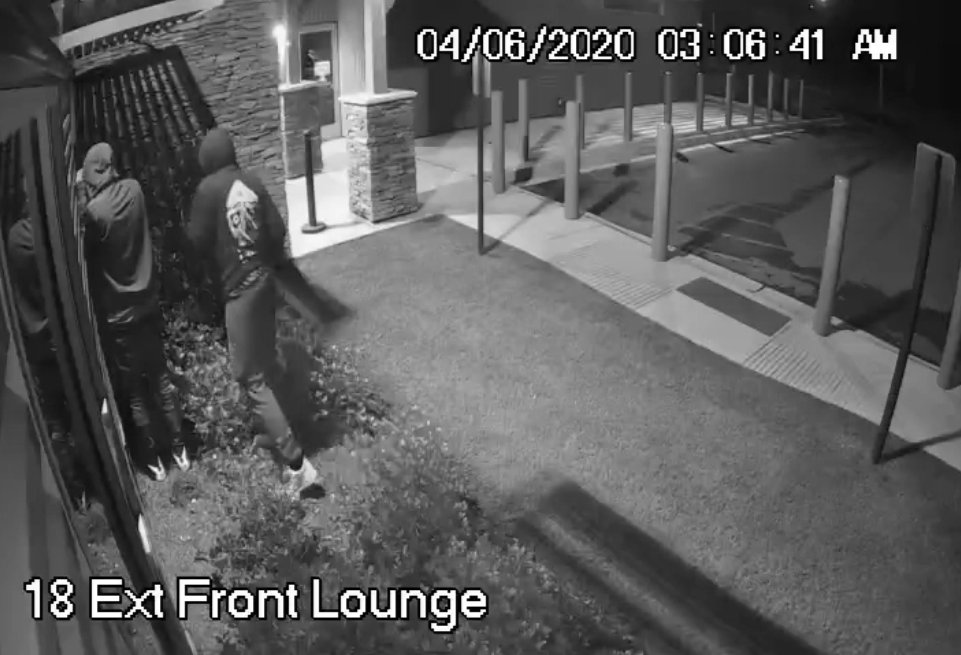 Video verification example: criminals breaking into house